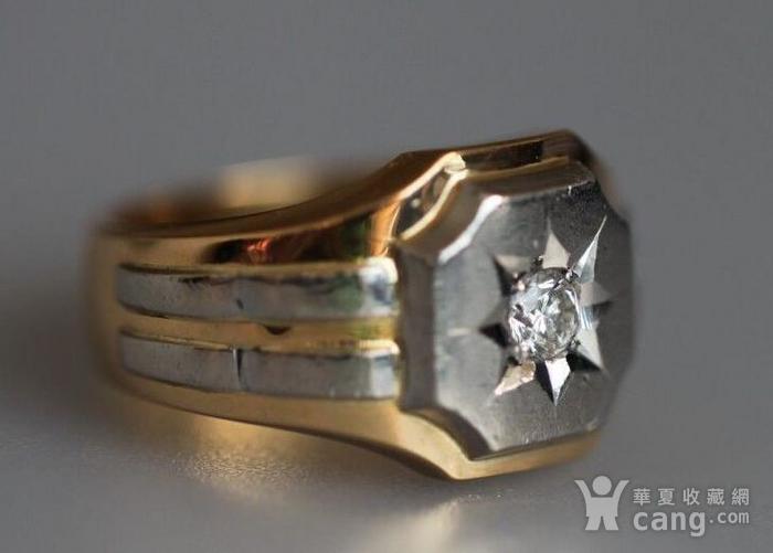 回流,独钻,双金,男式大戒指图4