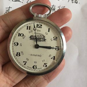 欧洲茉莉回流 NO.2 瑞士名表 RAMINO 1钻上弦机械怀表