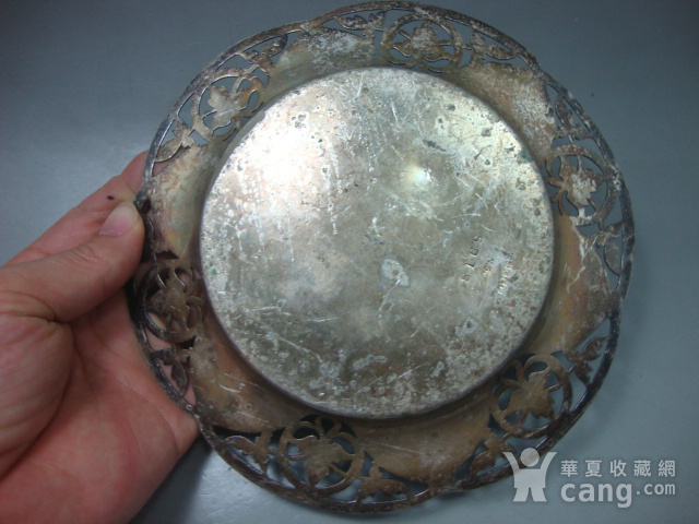 回流:镂空雕花银质老盘图9