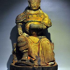 清中期真武大帝木造像