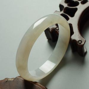 冰种翡翠扁条手镯 58mm  17KA05