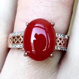 珠宝 爆款纯天然珊瑚戒指