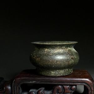 清仿明代一柱香小铜香炉一只