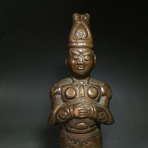日本回流 铜质将军武士俑造像