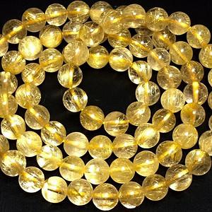 纯天然巴西进口金发晶圈手链