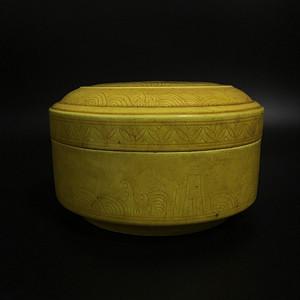 黄釉珠宝盒