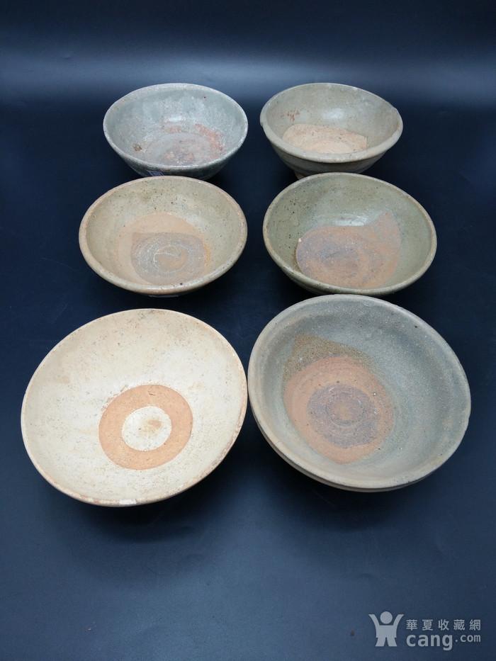 宋至明青釉碗 六件图2