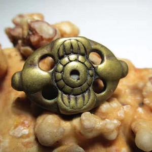 藏传 晚清 铜质 宝相花 背鱼 包浆老道 做工精细 精美至极