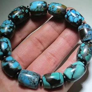精品 全部 有些年份 原矿 高瓷 乌兰花 松石 有几颗还是 三彩