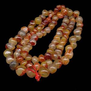 天然巴西红玛瑙108颗念佛珠塔链项链