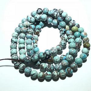 民国 原矿绿松石 108粒 项链 有包浆 瓷度好 下面可以 配牌子