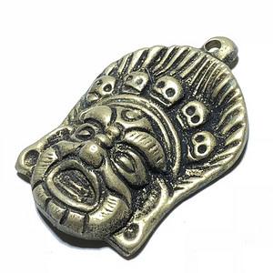 民国 黑天护发 铜制 托甲 手工 制作 包浆老厚 百年加持辟邪护身