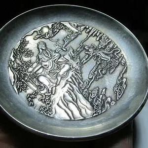 清 乾隆款 银质 佛供盏 精工崭刻 观音赐福 做工精湛至极 惟妙惟肖