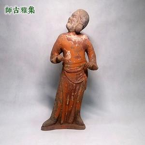 唐 红陶仕女俑