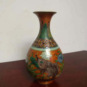三彩玉壶春瓶