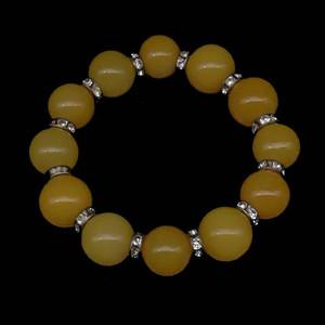 缅甸黄龙玉圆珠手链