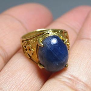 欧洲回流 斯里兰卡 蓝宝石戒面戒指 终身保真