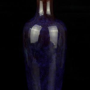 16清乾隆款窑变釉观音瓶
