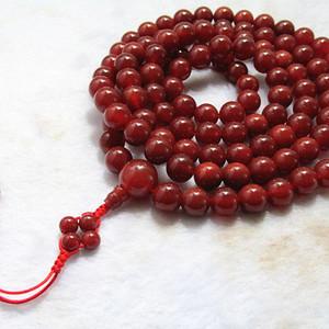 有些年头 天然 凝血红 玛瑙108粒 念珠