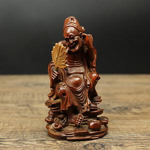 旧藏黄杨木雕济公摆件