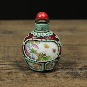 旧藏琉璃鼻烟壶