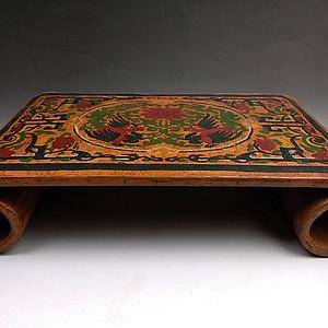 旧藏雕填漆器卷台