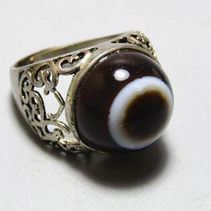 天然单眼玛瑙 戒面戒指
