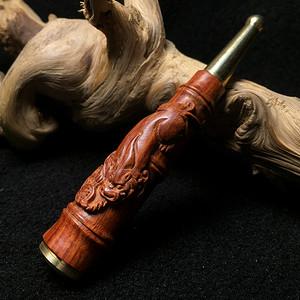 联盟 印度小叶紫檀招财貔貅烟嘴