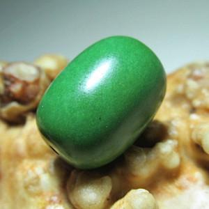 民国 满肉 原矿 高瓷 玉质极佳 绿松石 桶珠