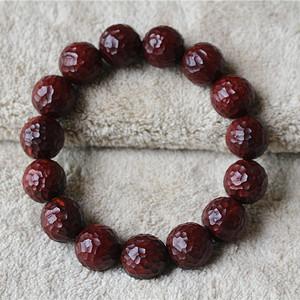小叶紫檀1.5清刀锤纹珠