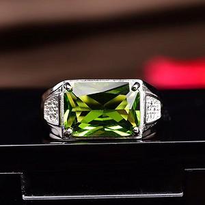 经典橄榄石戒指