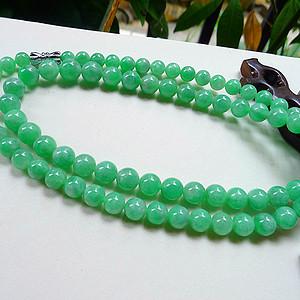 自然光实拍!天然A货翡翠满绿项链