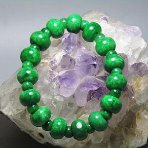 老坑 翡翠 满绿 圆珠 手串 特别漂亮