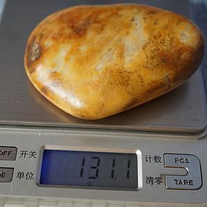 131克和田黄沁籽料原石