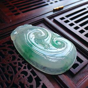 冰润飘绿如意吊坠