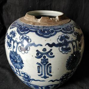 雍正青花罐