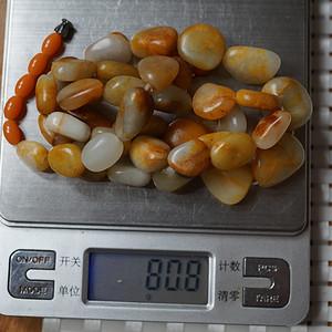 80.8 和田籽料原石项链
