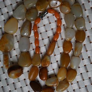 79克和田黄沁籽料原石项链