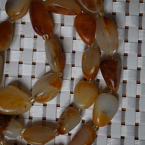 66克和田黄沁籽料原石项链