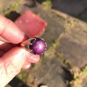 英国回流No.61 星光红宝石银戒指