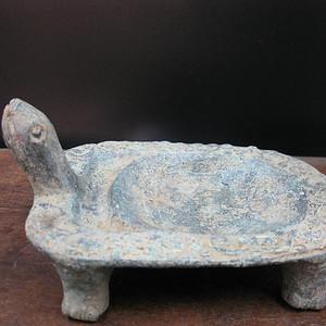 明代 红铜龟砚