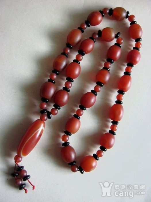 老南红玛瑙串珠项链图1