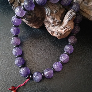 创汇期紫水晶团寿手持