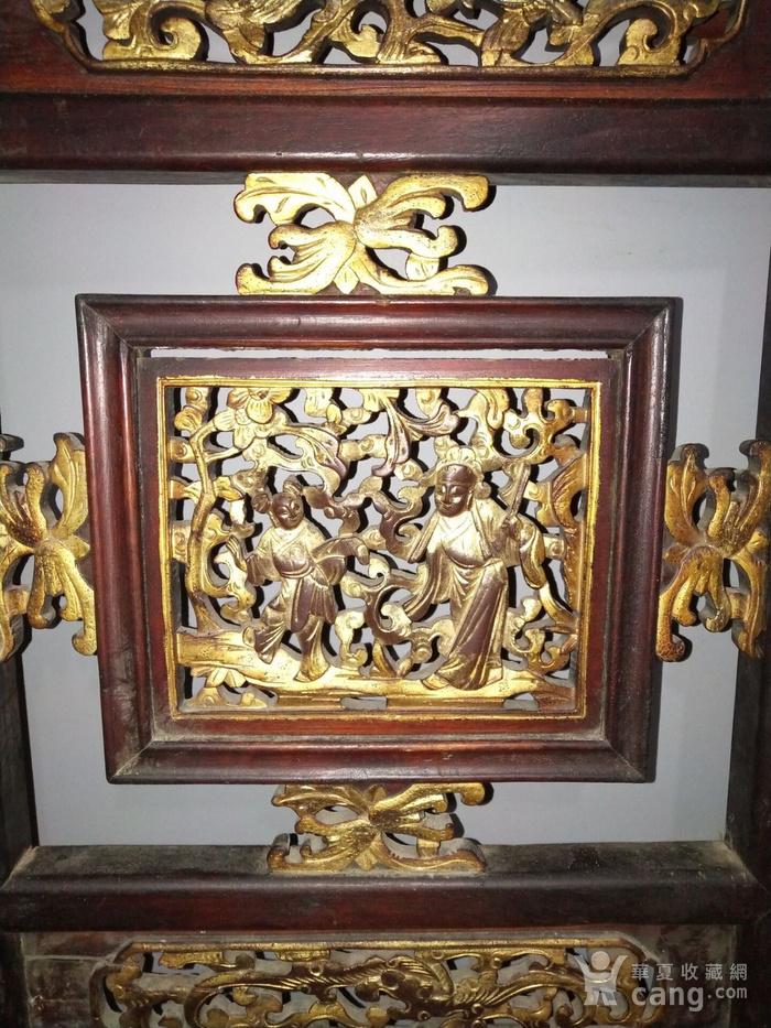 一对特别漂亮的楠木镏金人物板图8