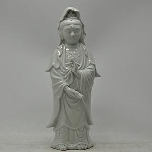 日本九谷菊仙瓷塑菩萨像