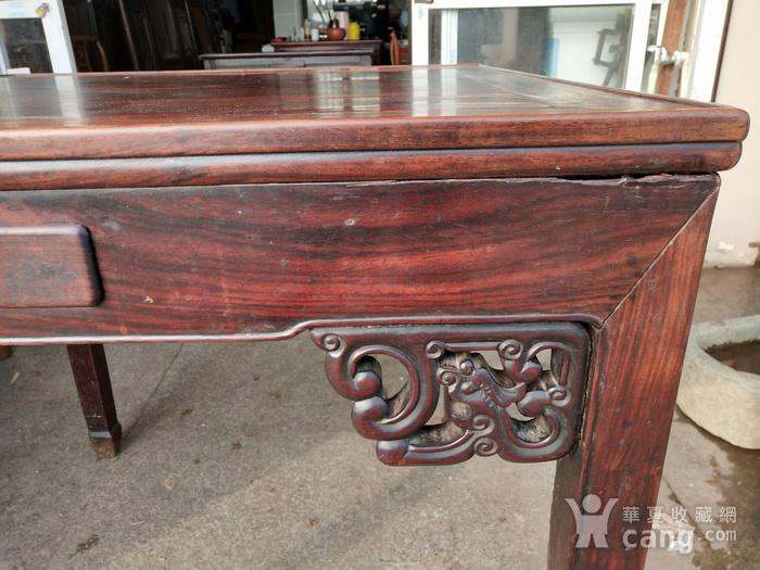 非常漂亮红酸枝方桌 龙头插角图6