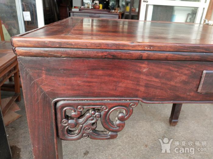 非常漂亮红酸枝方桌 龙头插角图7