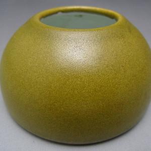100.民国 茶叶末釉水盂