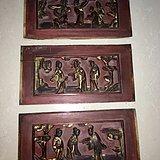 清代木雕人物一组