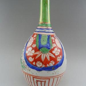 112.清代 五彩花卉胆瓶